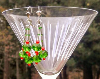 Sparkling Holiday Earrings ship free