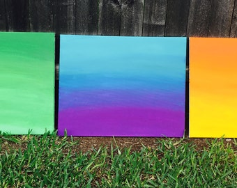 Set of 3 canvas paintings