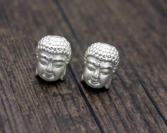 Sterling Silver Buddha Bead,Happy buddha bead, 3D buddha beads spacer, happy buddha spacer bead