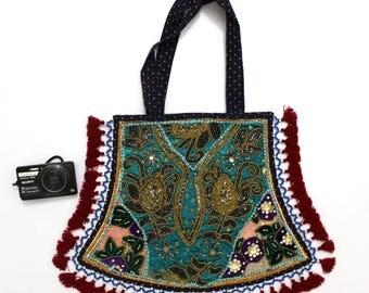 Handmade Ethnic Designer Tribal Banjara Patchwork Embroidered Hippy Fashionable Stylish Trendy Hippie Gypsy Boho Bohemian Fancy Bag G286