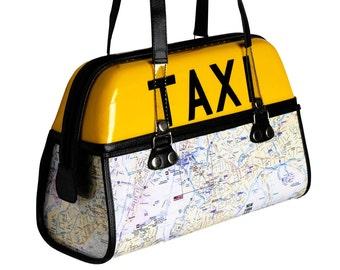 Top handle handbag, FREE SHIPPING, New York city map handbag , women Fashion Handbag, Upcycled Handbag for Ladies, top handle bag