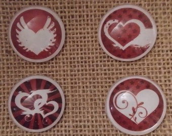 Heart Valentines Day Magnets - Valentines Day Magnets - Valentines Day Decor - Valentines Day Gift Idea - Love Magnets