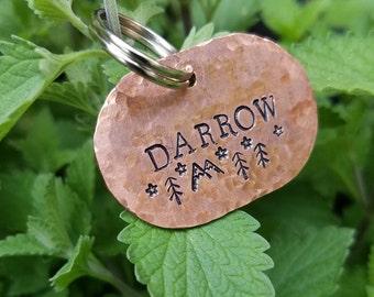 Cute Copper Custom Oval Dog ID Tag/ Name Tag