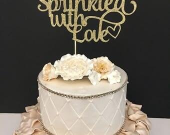 Sprinkled With Love Cake Topper, Baby Sprinkle Cake Topper, Baby Shower Cake Topper