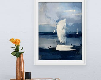 Sailing Print, Boat Print, Boat Picture, Boat Art, Abstract Seascapes, Coastal Art, Wall Decor