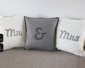 Mr & Mrs wedding pillows,...