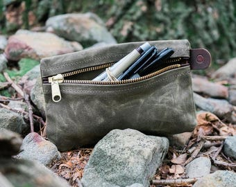 Waxed Canvas Writer's Pouch