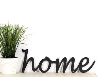 Metal Home Sign / Metal Wall Words / Home Metal Sign / Home Wall Sign / Black Home Sign / Home Sign for Wall / Home Sign