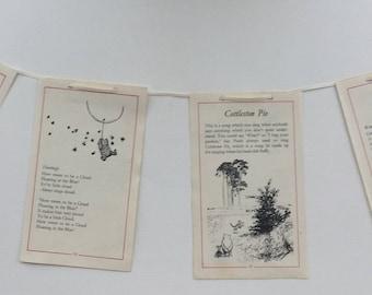 Winnie the Pooh Vintage Book Bunting