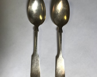 Vintage 1847 Rogers Bros 12 Silverplate Serving Spoon- set of 2