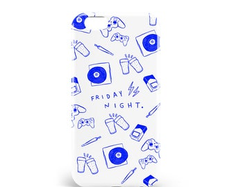 Coque Party Night | PVC | iPhone 4, 4S, 5, 5S, SE, 5C, 6, 6s, 6 Plus, 6s Plus, 7 et 7 Plus, illustration, design, madeinfrance, artmars, art