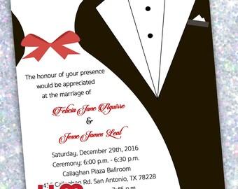 100- Wedding Dress/Tuxedo Invitations (printed)