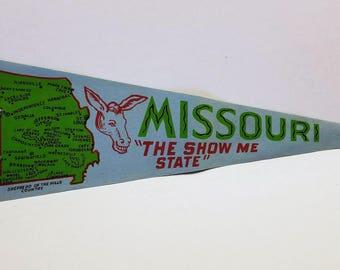 Missouri - Vintage Pennant