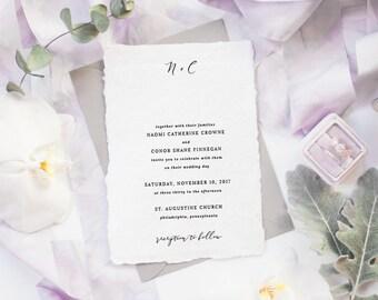 The Naomi Suite | Wedding Invitation Suite, Wedding Invitation, Romantic Wedding Invitation, Calligraphy Wedding Invitation
