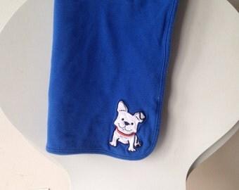 Blue Reversable Dog Blanket