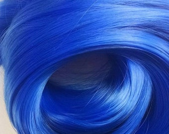 Sonic Sapphire Blue Nylon Doll Hair Hank for Rerooting Barbie® Monster High® Ever After High® My Little Pony Fashion Royalty Disney