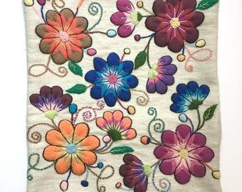 Colorful Decorative Pillow | Handwoven Accent Pillow Cover | Throw Pillow | Peruvian Pillow | Boho Decorative Pillow