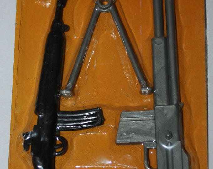 Military Arsenal Weapons Larami Toys 1970's for GI Joe Style on Original Blister Pack