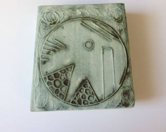 Carn pottery collectable small rectangular vase 1970s.