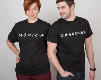 Friends TV Show Tshirts Friends Series Matching shirt Monica Chandler Couple gift Clothing TV show friends Matching outfits PA1154