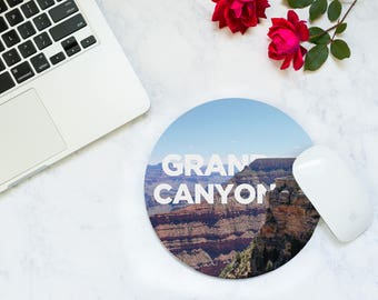 Desk Accessories Men - Cubicle Decor - Grand Canyon - Mousepad - Christmas Traveler - Coworker Gift Desk - Tech Accessories - World Traveler