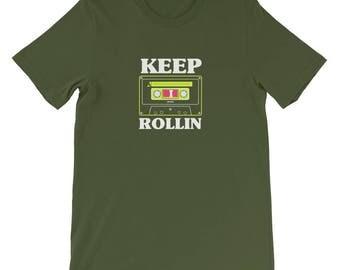 Keep Rollin - Cassette Music Vintage T Shirt