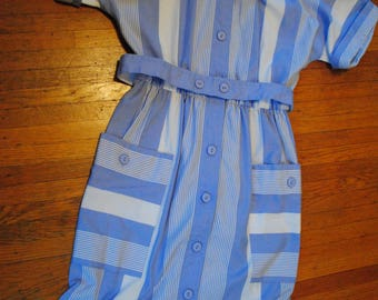 Leslie Fay Stripped 70s Dress