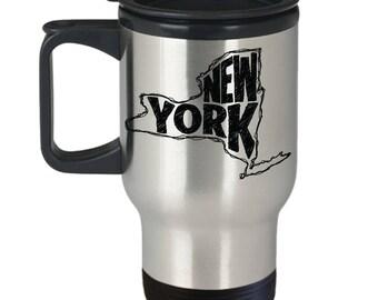New York Travel Mug, New York Thermal Coffee Mug, New York, Mug