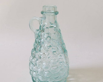 Vintage French (Bordeaux) 'Fillette' Bubble or Grape Glass Bottle with Handle