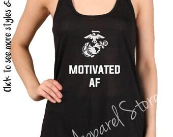 MotivatedAF - Female Marine USMC Tank Top/V Neck