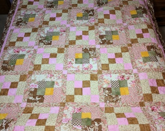 Pink Twin Bed Quilt