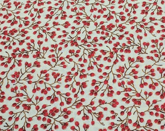 Let It Glow-Fruit on Beige Cotton Fabric from Sentimental Studios for Moda Fabrics