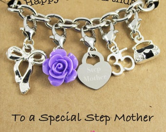 Happy 35th Birthday Rose Lucky Charm Bracelet Gift for Bestie, Sister, Niece, Princess.