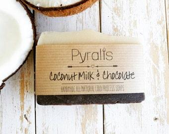 Coconut Milk Soap, Coconut Soap, Vegan Soap, Chocolate Soap, Cocoa Soap, Organic Soap, Cold Process Soap, Milk Soap, Natural Soap, Coconut