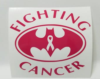 Fighting Cancer Vinyl Decal