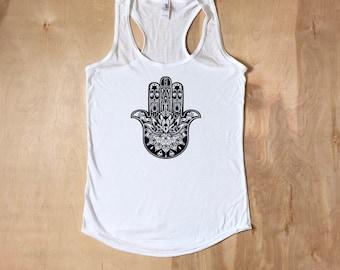 Yoga shirt, Yoga Tank Top, Hamsa Shirt, Hamsa Shirt, Yoga Top, Yoga Shirt, Yoga Tank, Yoga Clothes, Yoga, Hamsa Hand, Third Eye Shirt, Hamsa