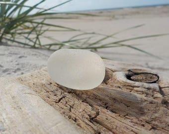 "Genuine White Yellow Flawless Sea Glass piece-Size 1.4""-Jewelry Quality-Rare Sea Glass-Pendant size sea Glass#J45#"