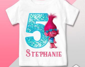 T Shirt Trolls Poppy - Birthday Party - Gift events