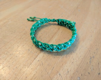 Green Spiral Bracelet, Green Hemp Bracelet, Adjustable Bracelet, Double Spiral, Macrame Bracelet, Green Hemp Jewelry, Hemp Bracelet
