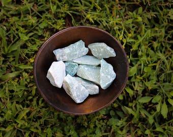 GREEN AVENTURINE - genuine gemstone healing crystals raw rough rocks stones