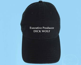 Executive Producer Dick Wolf Dad Hat Embroidered Baseball Cap Low Profile Casquette Strap Back Unisex Adjustable Cotton Baseball Hat