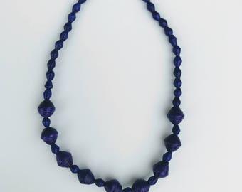 Purple handmade paper bead