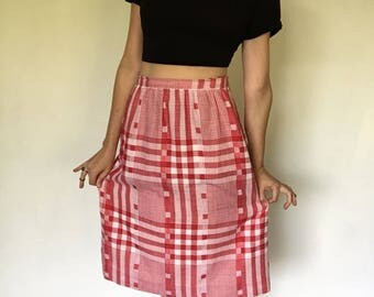 vintage Breckenridge plaid skirt | made in USA | 1970s