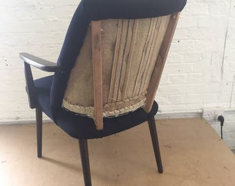 Navy Deconstructed Chair