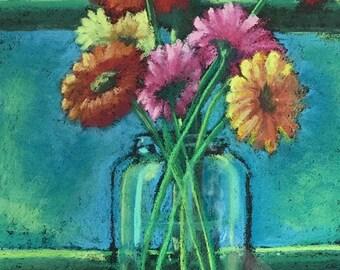 Print of Bright Flowers