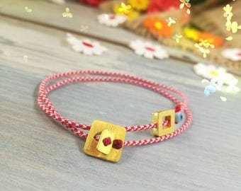 Greek Silver Gold Plated 925o Handmade March Bracelet