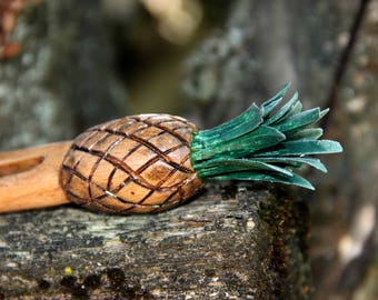 hair accessories for her tropical jewelry vegan gift hair barrette Hair pin hair comb wood Hair Stick pineapple hair fork pineapple jewelry
