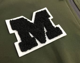 chenille letters patches, chenille varsity letters, cheap custom chenille letters