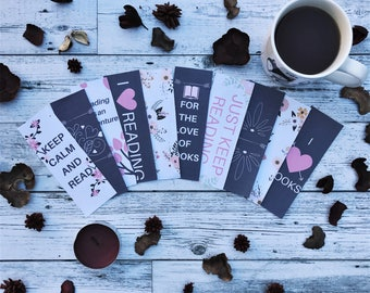 Bookmark Set | Printable | Bookmarks | Book Lover | Book Worm | Book Geek | Book Nerd | Gifts for Book Lovers | Book Lover Gifts
