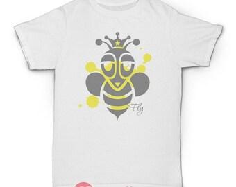 Bee Tshirt, Manchester Bee Tshirt, Fly Tshirt, Positive Tshirt, Apparel, Streetwear, Rock, Hip Hop, Indie, Skater, Vintage 001